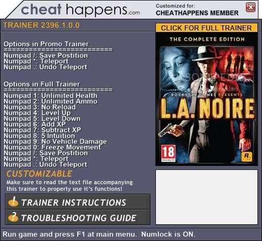 Кряк для L.A. Noire - NoCD, NoDVD, crack - Все для игр - Каталог ...