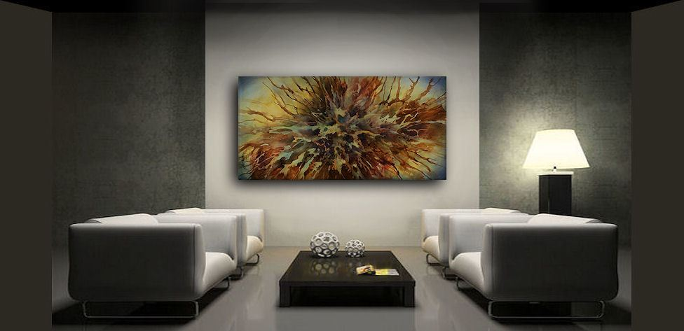 Abstract Modern Art painting M.Lang Original Contemp.