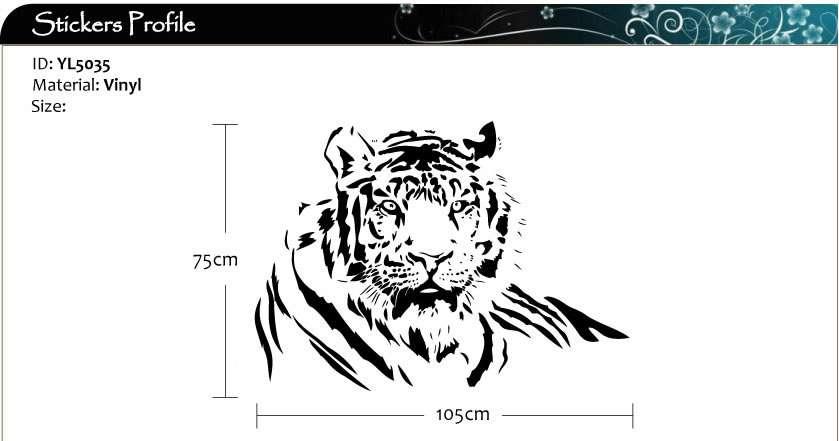 Tiger Cat Vinyl Art Wall Stickers / Wall Decals