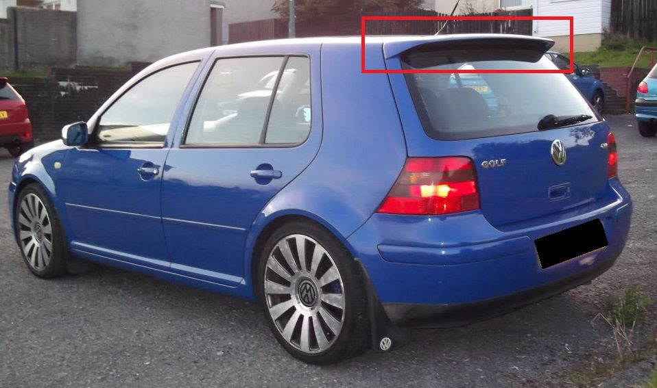 vw golf mk4 iv r32 look roof spoiler new ebay. Black Bedroom Furniture Sets. Home Design Ideas